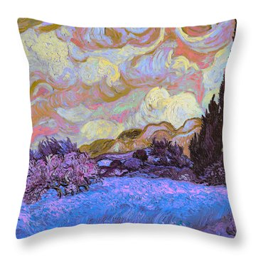 Blend 20 Van Gogh Throw Pillow by David Bridburg