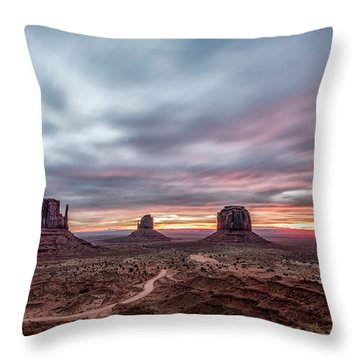 Blended Colors Over The Valley Throw Pillow