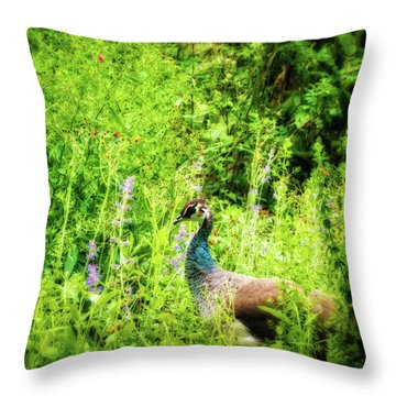 Blending In Throw Pillow by Wim Lanclus