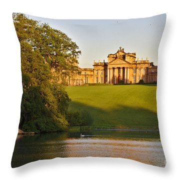 Blenheim Palace And Lake Throw Pillow