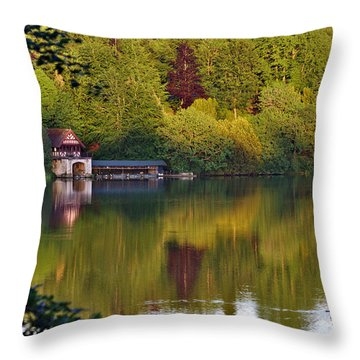 Blenheim Palace Boathouse 2 Throw Pillow