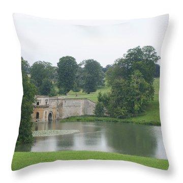 Blenheim Palace Lake Throw Pillow
