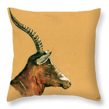 Blesbok Throw Pillow