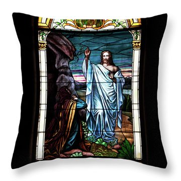 Blessed By Jesus Throw Pillow