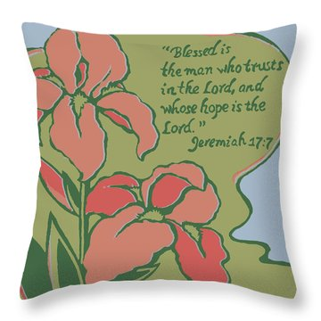 Blessed Is The Man Throw Pillow