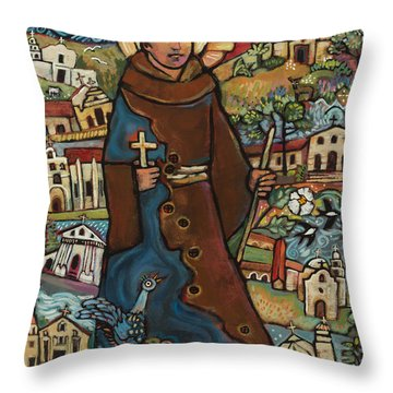 Blessed Junipero Serra Throw Pillow