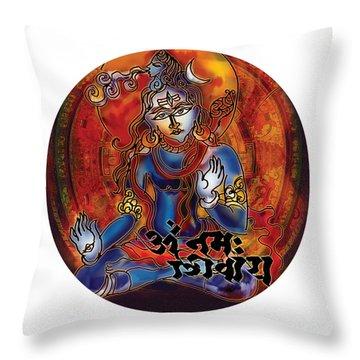 Blessing Shiva Throw Pillow