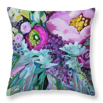 Blessings Come From Raindrops Throw Pillow