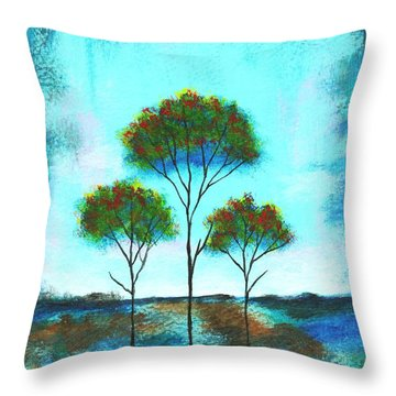 Blessings Throw Pillow by Itaya Lightbourne