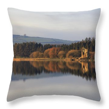 Blessington Lakes Throw Pillow by Phil Crean