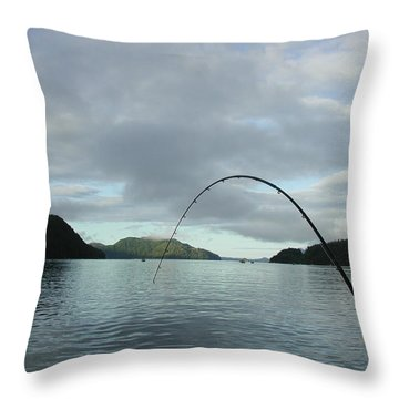 Hisnit Inlet And Sunny Bligh Throw Pillow