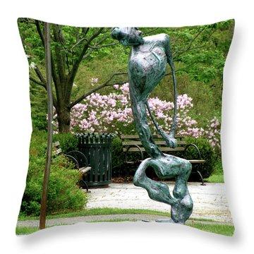 Blind Faith Throw Pillow by Al Goldfarb