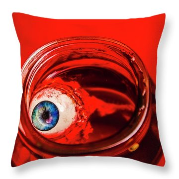 Blind Fear Throw Pillow