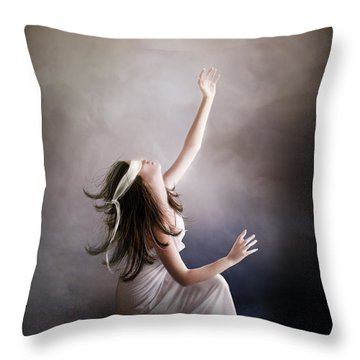 Blind Throw Pillow by Mary Hood