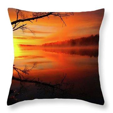 Blind River Sunrise Throw Pillow