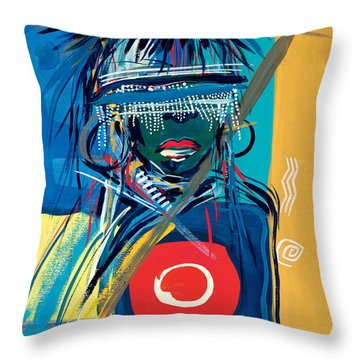 Blind To Culture Throw Pillow by Oglafa Ebitari Perrin