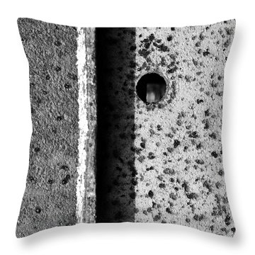 Throw Pillow featuring the photograph Blindside by Tom Druin