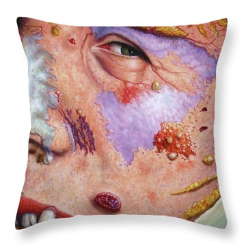 Blindsided Throw Pillow by James W Johnson