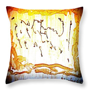 Bling Abstract Gold 2 Throw Pillow
