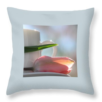 Throw Pillow featuring the photograph Bliss by Angela Davies