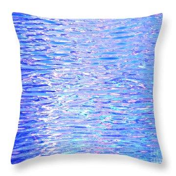 Blissful Blue Ocean Throw Pillow