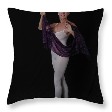 Throw Pillow featuring the photograph Blissful Dance by Nancy Taylor