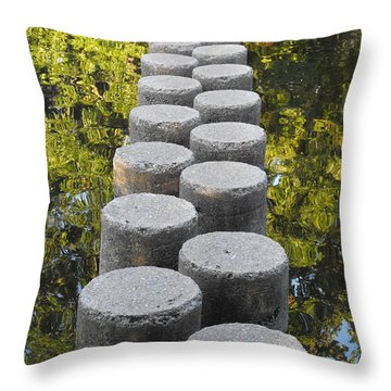 Blissful Path Of Tranquility Throw Pillow
