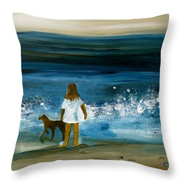 Blissful Sea Throw Pillow