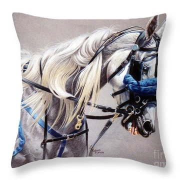 Blizzard Babe Throw Pillow by Carrie L Lewis