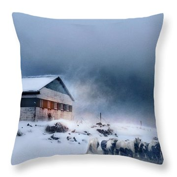 Blizzard Bliss Throw Pillow