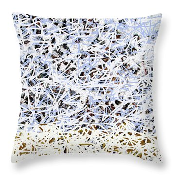 Throw Pillow featuring the digital art Blizzard Homage To Jackson by Walter Fahmy