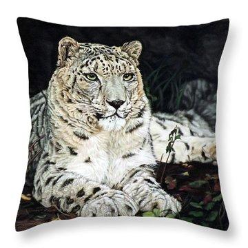 Blizzard Throw Pillow by Linda Becker