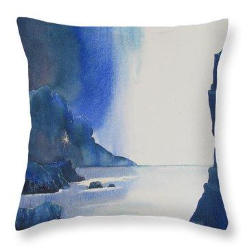 Blizzard Of Blue Throw Pillow