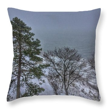 Blizzard Stella On Casco Bay Throw Pillow