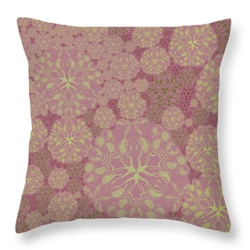 Blob Flower Painting #3 Pink Throw Pillow