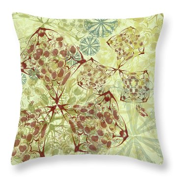 Blob Flower Painting #1 Pale Yellow Throw Pillow