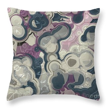 Throw Pillow featuring the digital art Blobs - 01c01 by Variance Collections