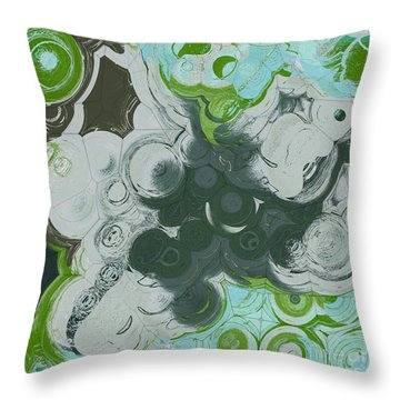 Throw Pillow featuring the digital art Blobs - 13c9b by Variance Collections