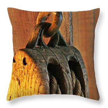 Block And Tackle Throw Pillow