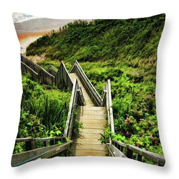 Throw Pillow featuring the photograph Block Island by Lourry Legarde