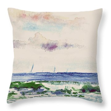 Block Island Sound Throw Pillow
