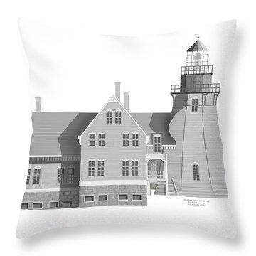 Block Island South East Rhode Island Throw Pillow by Anne Norskog