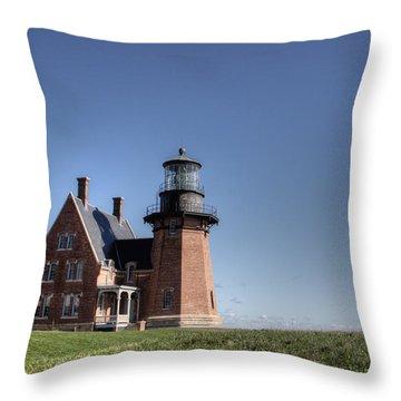 Block Island  Southeast Light Throw Pillow