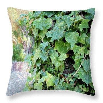 Block Of Ivy Throw Pillow