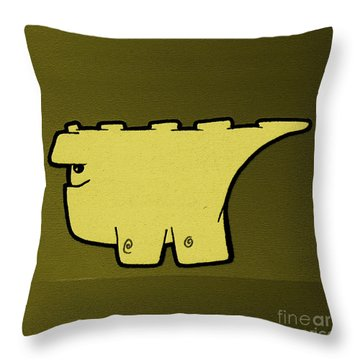 Blockasaurus Throw Pillow