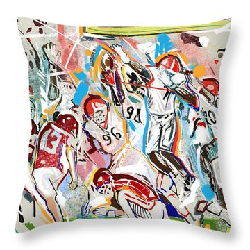 Throw Pillow featuring the painting Blocked by John Jr Gholson
