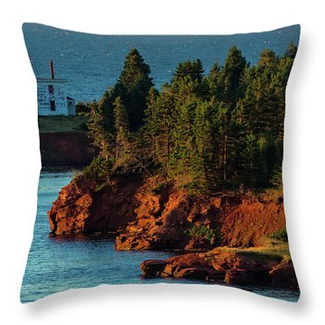 Blockhouse Point Lighthouse Throw Pillow