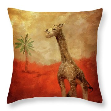 Throw Pillow featuring the digital art Block's Great Adventure by Lois Bryan
