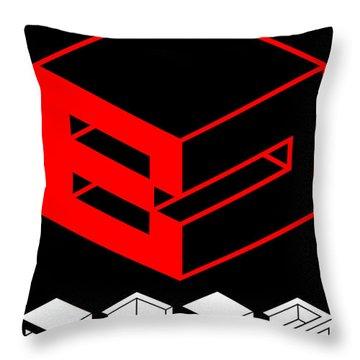 Blok Poster Throw Pillow