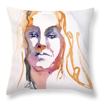 Blonde #1 Throw Pillow